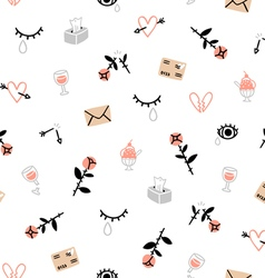Sad valentines day pattern vector image