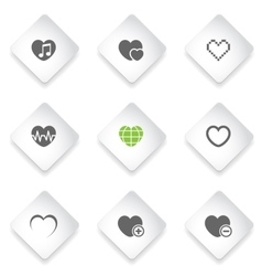 Heart simply icons vector