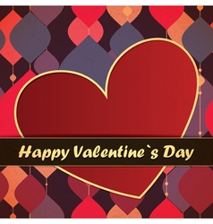 Valentine day card with with decorative shapes vector