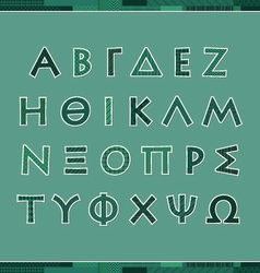 Greek alphabet letters vector