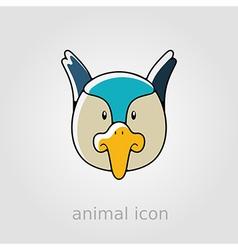 Pheasant flat icon animal head vector