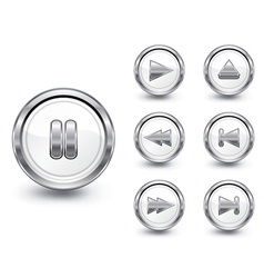 Chrome buttons set vector