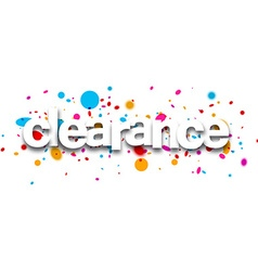 Clearance paper banner vector