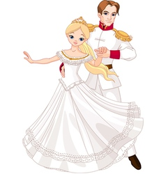 Dancing prince and princess vector