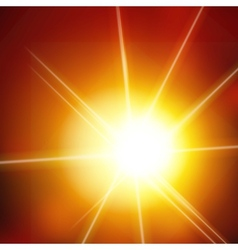 Abstract background with sun and lens flares vector