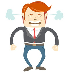Angry office man vector image vector image