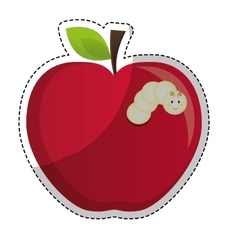 apple fruit icon vector image