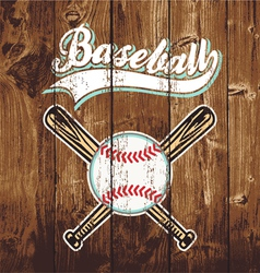Baseball wooden board vector