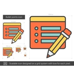 Bullet points line icon vector image vector image
