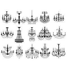 Classic chandelier Set Collection vector image
