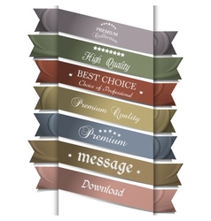 Collection of silk ribbons for design vector image vector image