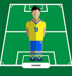 Computer game ukraine football club player vector