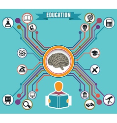 Concept of education and knowledge vector