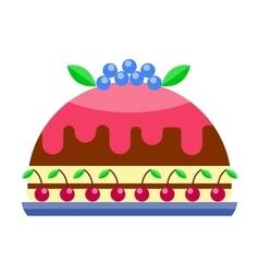 Cream birthday cake pie vector image vector image