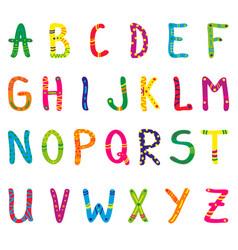 cute cartoon alphabet for children vector image vector image