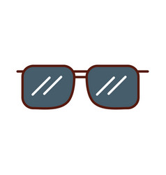 Cute grey sunglasses cartoon vector