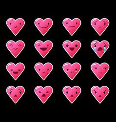 Emoticons heart gradient 10 vector