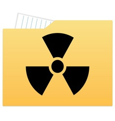 File folder with radiation sign vector image vector image