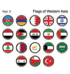 Flags of western asia vector