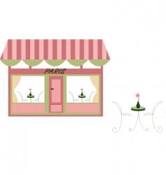 french cafe vector image