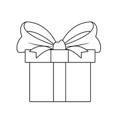 gift box wrapped ribbon bow decoration celebration vector image vector image