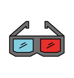 glasses 3d isolated icon vector image vector image