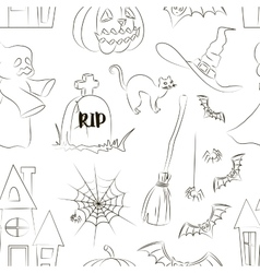 Halloween set pattern vector image vector image