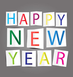 happy new year text design vector image