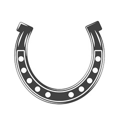 Horseshoe lucky symbol black icon logo element vector