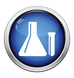 Icon of Chemical bulbs vector image