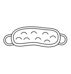 mask for sleep icon outline style vector image