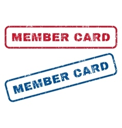 Member card rubber stamps vector