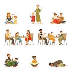 people characters of different religions set jews vector image vector image