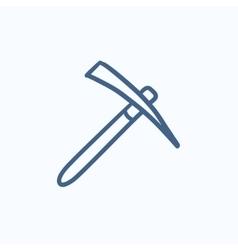 Pickax sketch icon vector image