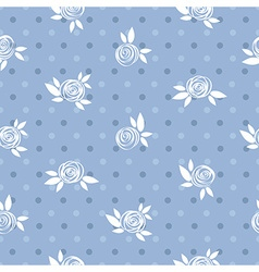 Seamless floral pattern roses and circles vintage vector image vector image