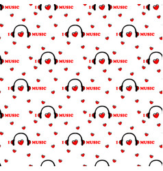 seamless pattern with symbol of music vector image vector image