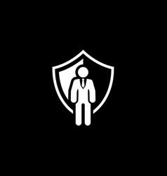 Security agency icon flat design vector