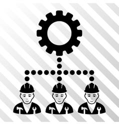 Service staff icon vector