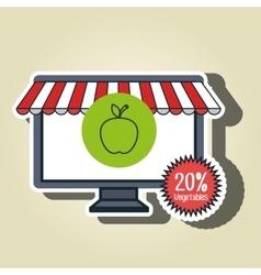 Smartphone buy online fruit vector