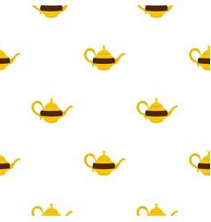 Teapot pattern seamless vector
