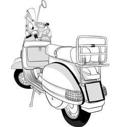 Vintage scooter vector