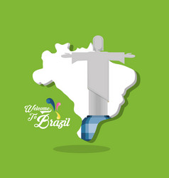 Welcome to the brazil design vector