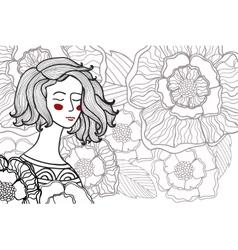 zentangl doodle portrait of vector image