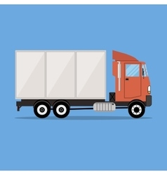 small modern cargo truck for transportation vector image