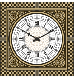 Dial victorian clock in the style of big ben vector