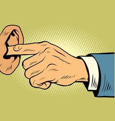 Finger in the ear not hear vector