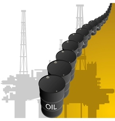 Barrels of oil vector image