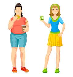 Cartoon proper nutrition concept vector