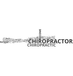 Become a chiropractor text word cloud concept vector