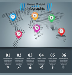 road infographic design template and pin maps vector image